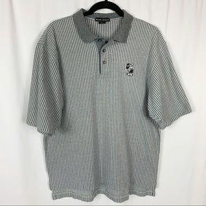 Nike Golf Disney Mickey Mouse Striped Polo Shirt M
